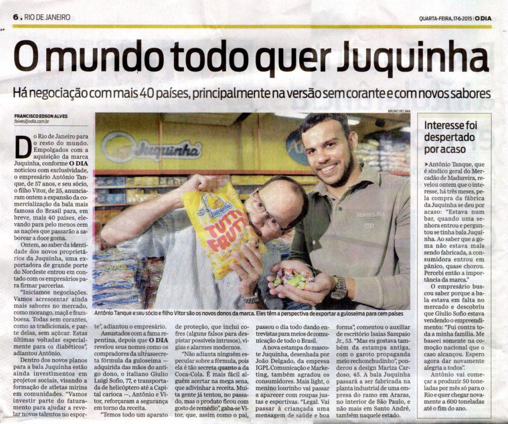Bala Juquinha Jornal